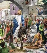 Игра на тему вход Иисуса в Иерусалим