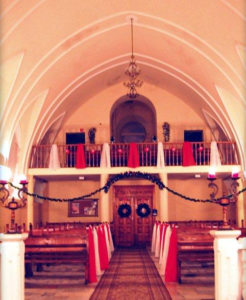 Украшение церкви на Рождество