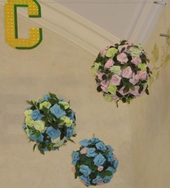 цветочные шары на Пасху