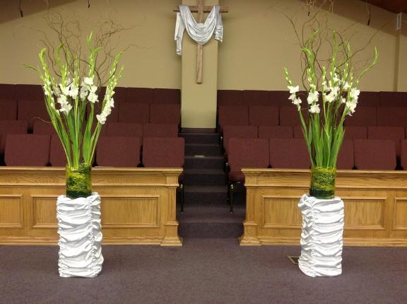 украшение церкви на Пасху