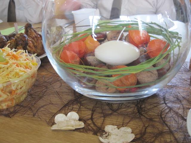 украшение столов на жатву
