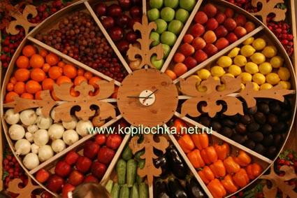 часы с плодами