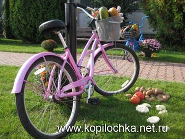 украшенный велосипед