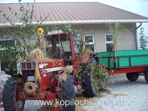 трактор тоже можно украсить