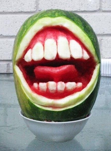 арбузный рот