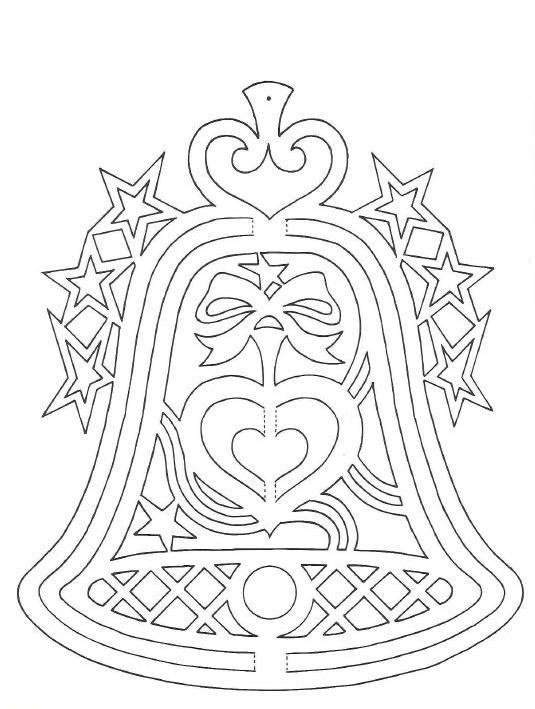 шаблон колокольчика