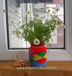 ваза из носка
