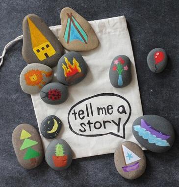 камни с рисунками для повторения урока