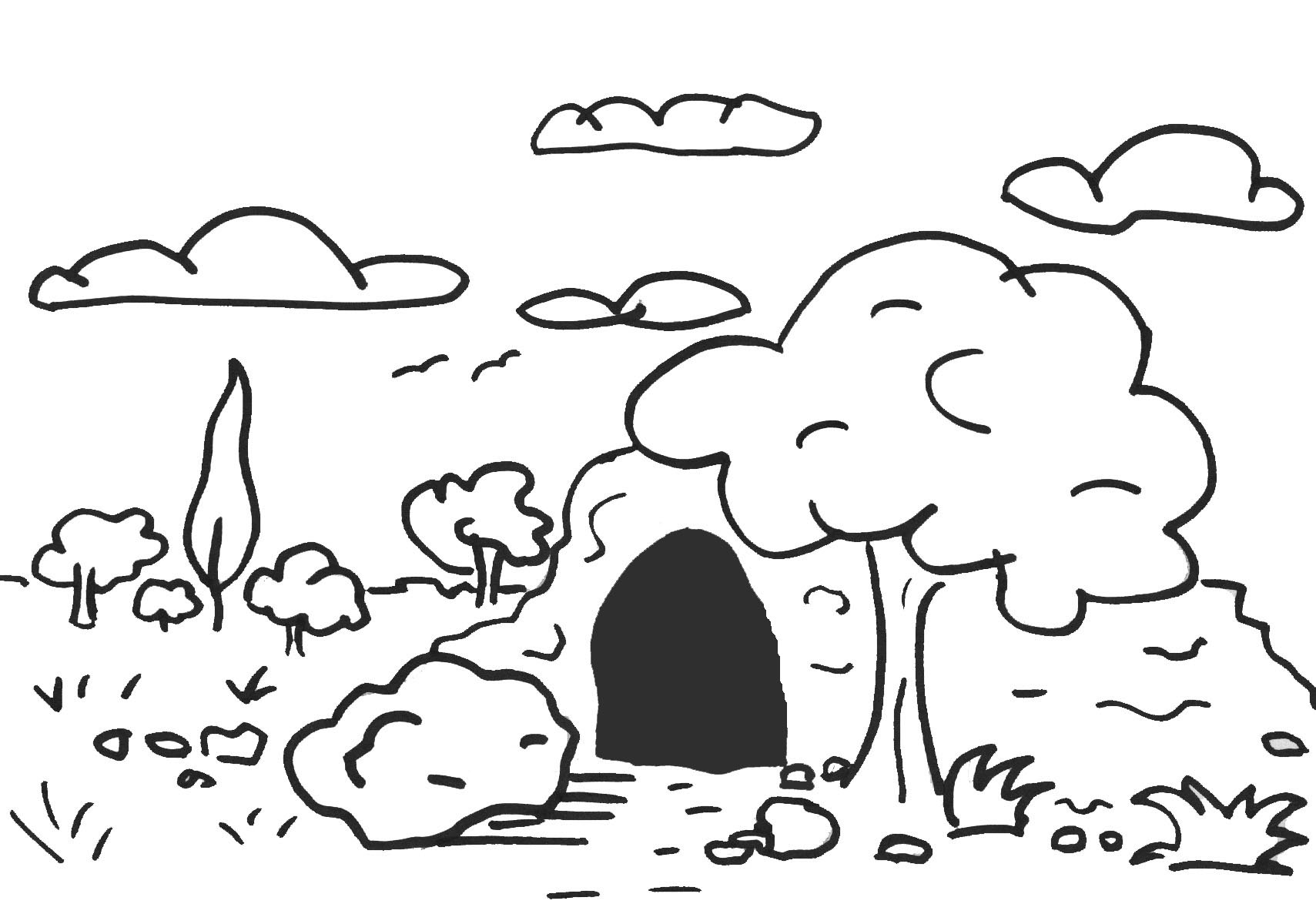 Пещера в раскрасках