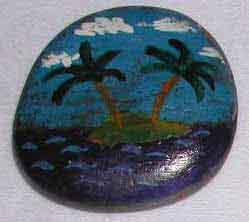 поделка для детей - рисунки на камнях