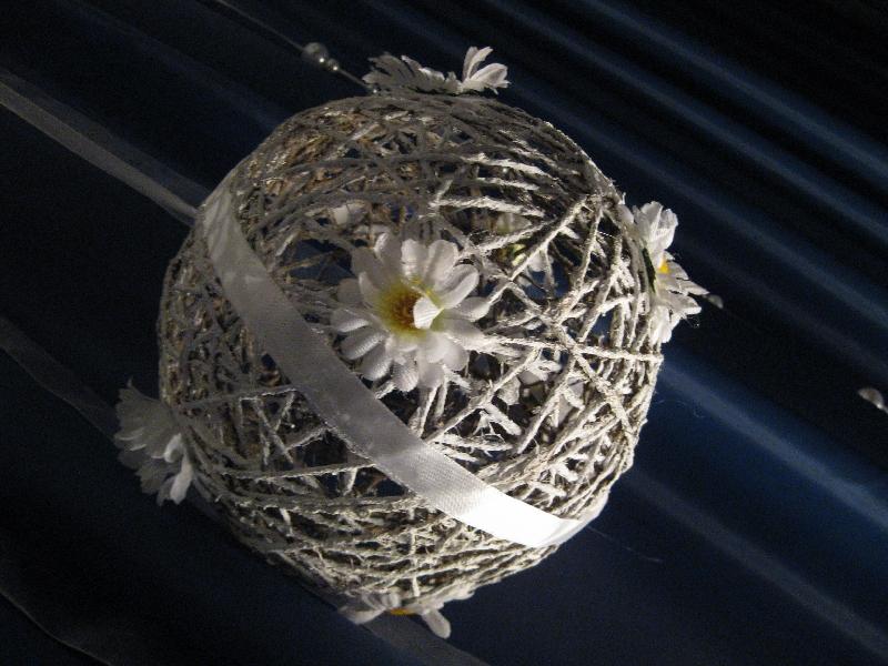декоративный шар из ниток