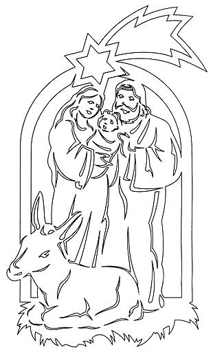 Вытынанка Святое семейство